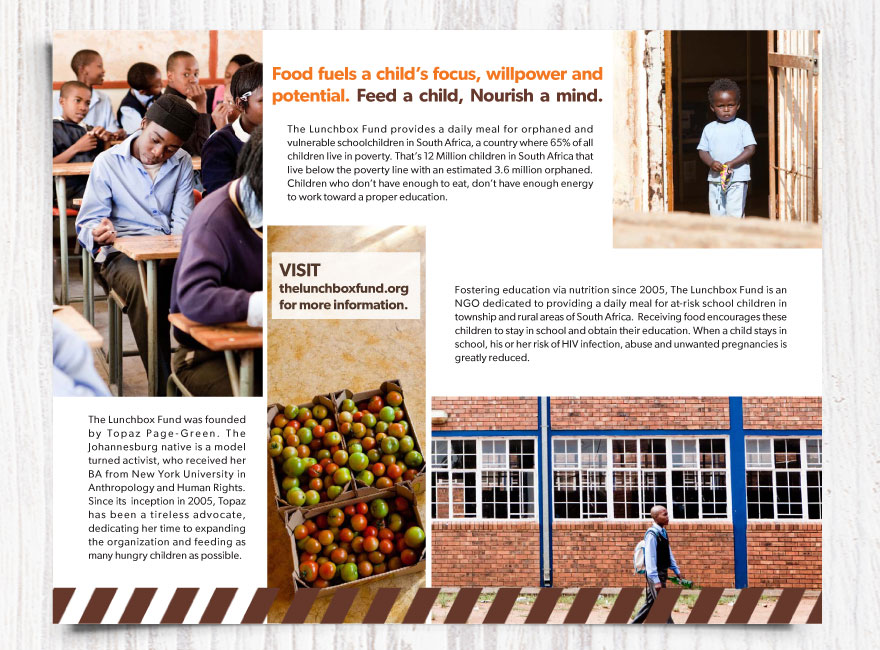 Select Pages from The Lunchbox Fund Brochure